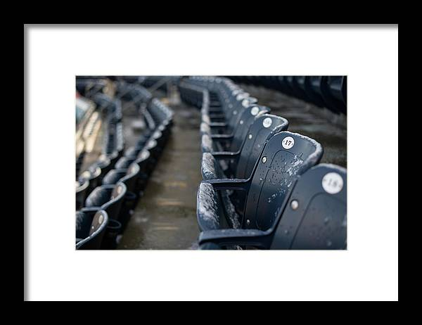 American League Baseball Framed Print featuring the photograph Chicago Cubs V. New York Yankees by Rob Tringali