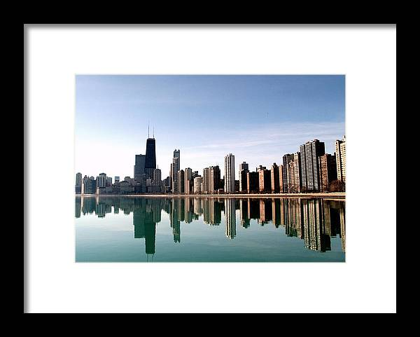 Lake Michigan Framed Print featuring the photograph Chicago Skyline by J.castro