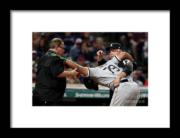 Three Quarter Length Framed Print featuring the photograph Chicago White Sox V Cleveland Indians by Justin K. Aller