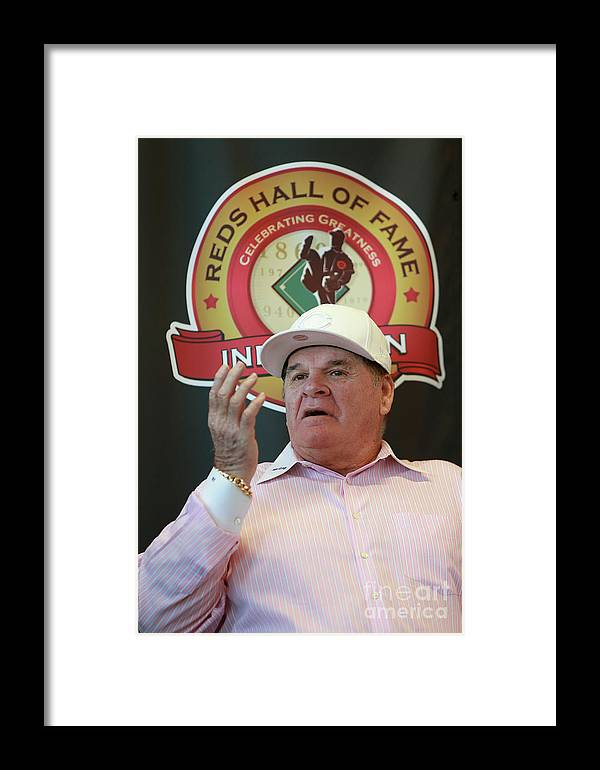 Great American Ball Park Framed Print featuring the photograph Cincinnati Reds Hall Of Fame News 4 by Mark Lyons