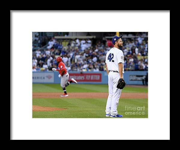 People Framed Print featuring the photograph Cincinnati Reds V Los Angeles Dodgers 4 by Harry How
