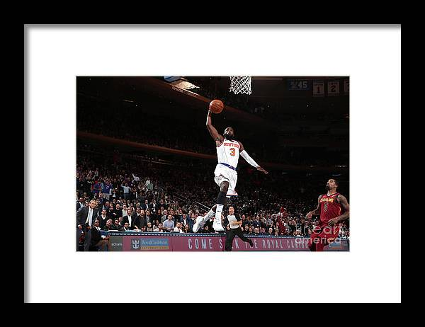 Tim Hardaway Jr. Framed Print featuring the photograph Cleveland Cavaliers V New York Knicks by Nathaniel S. Butler