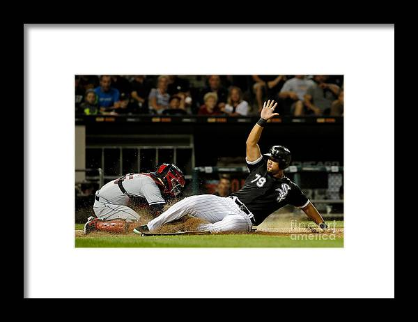 People Framed Print featuring the photograph Cleveland Indians V Chicago White Sox by Jon Durr