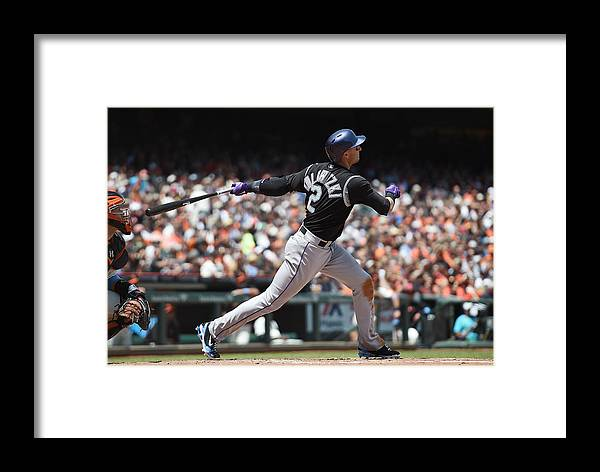 San Francisco Framed Print featuring the photograph Colorado Rockies V San Francisco Giants 4 by Thearon W. Henderson