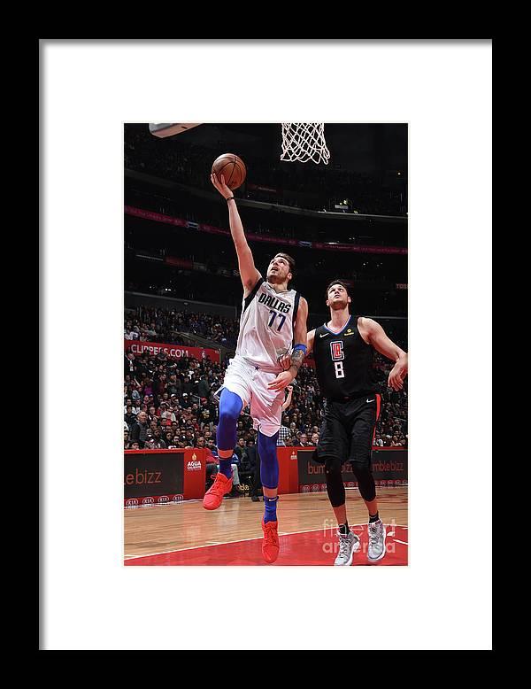 Nba Pro Basketball Framed Print featuring the photograph Dallas Mavericks V La Clippers by Adam Pantozzi