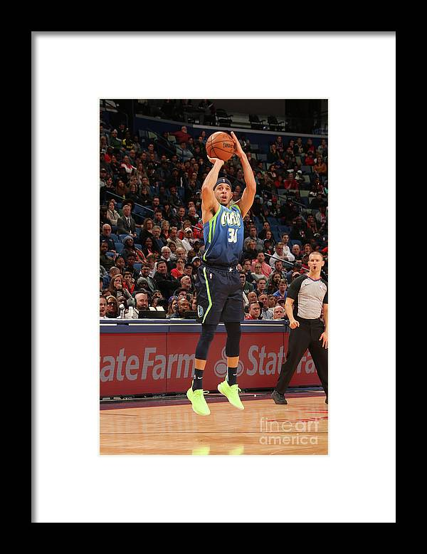 Smoothie King Center Framed Print featuring the photograph Dallas Mavericks V New Orleans Pelicans by Layne Murdoch Jr.