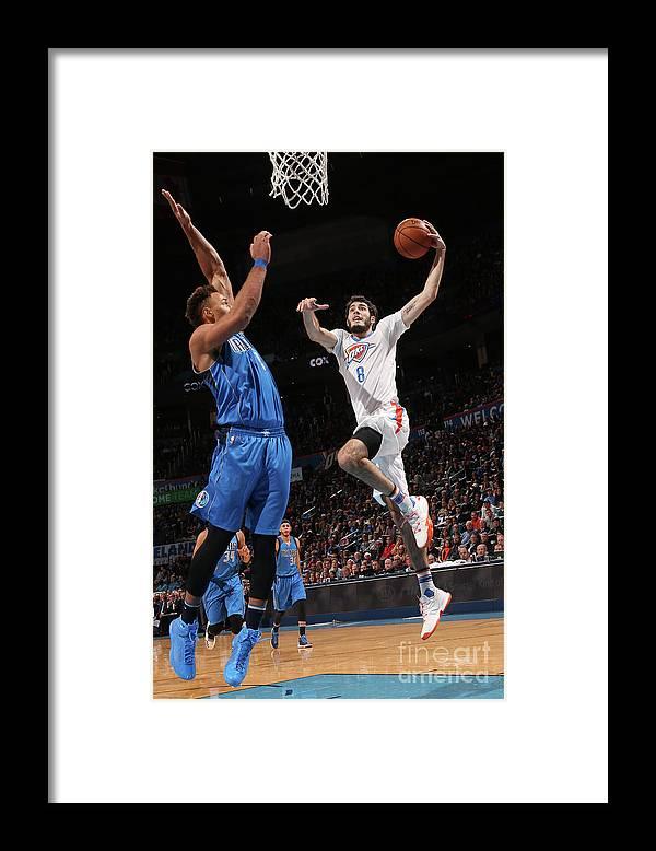 Nba Pro Basketball Framed Print featuring the photograph Dallas Mavericks V Oklahoma City Thunder by Layne Murdoch