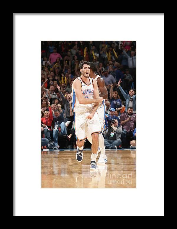 Basketball Framed Print featuring the photograph Denver Nuggets V Oklahoma City Thunder by Layne Murdoch