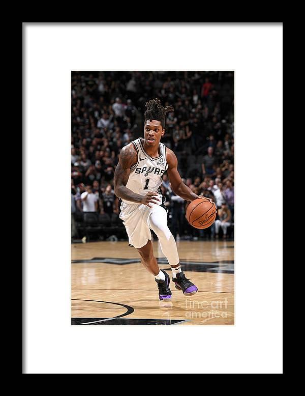 Playoffs Framed Print featuring the photograph Denver Nuggets V San Antonio Spurs - by Garrett Ellwood
