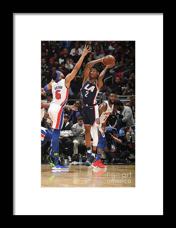 Nba Pro Basketball Framed Print featuring the photograph Detroit Pistons V La Clippers by Andrew D. Bernstein