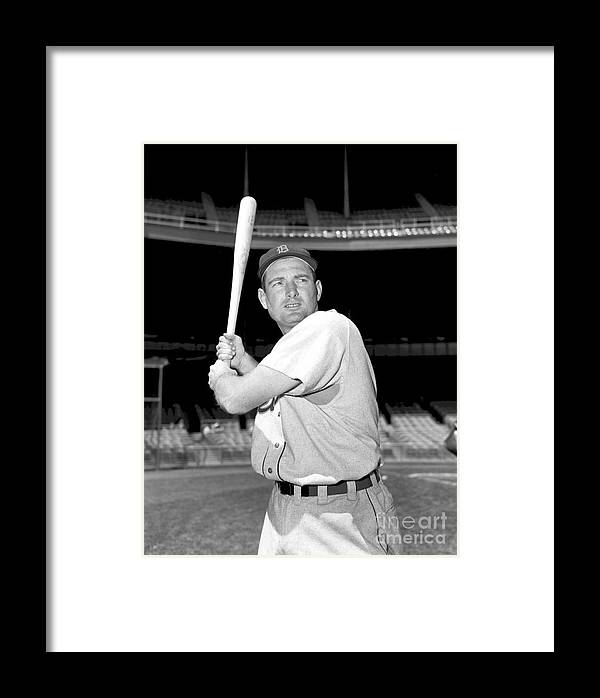 American League Baseball Framed Print featuring the photograph Detroit Tigers V New York Yankees by Kidwiler Collection