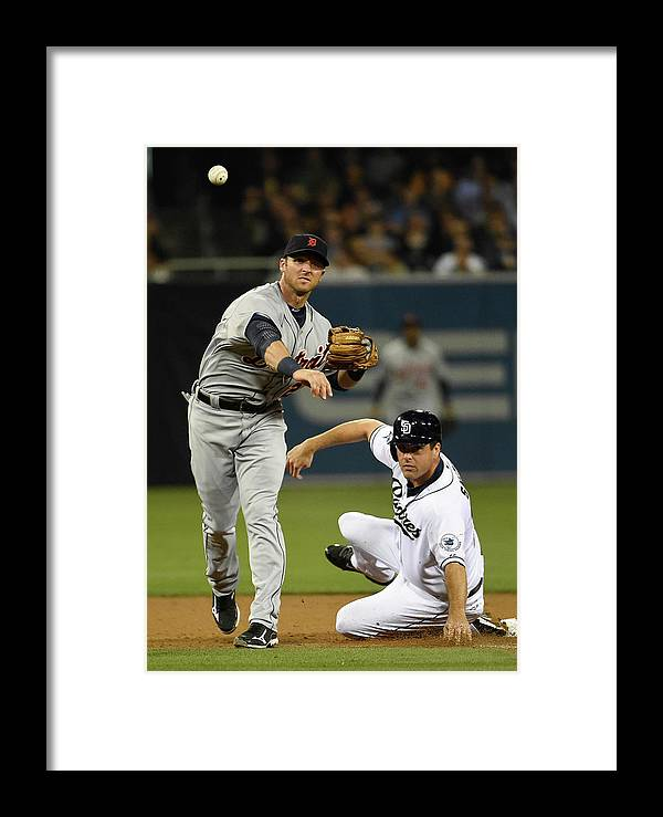 Andrew Romine Framed Print featuring the photograph Detroit Tigers V San Diego Padres 4 by Denis Poroy