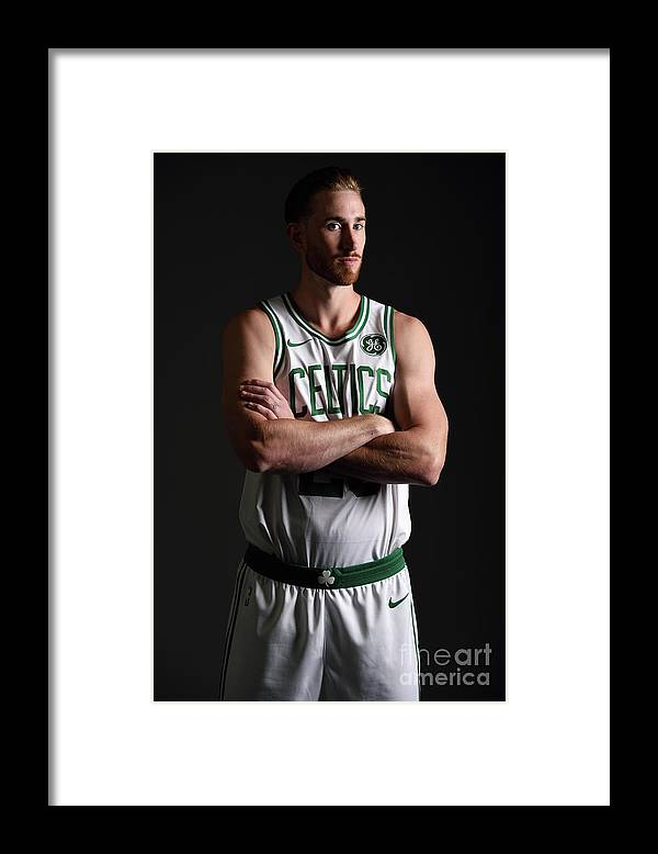 Nba Pro Basketball Framed Print featuring the photograph Gordon Hayward Boston Celtics Portraits by Brian Babineau