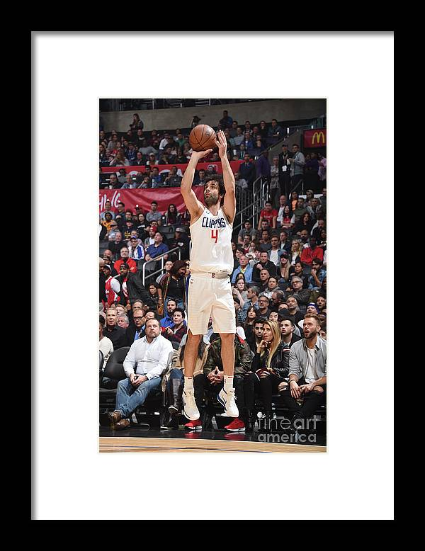 Nba Pro Basketball Framed Print featuring the photograph Houston Rockets V La Clippers by Andrew D. Bernstein