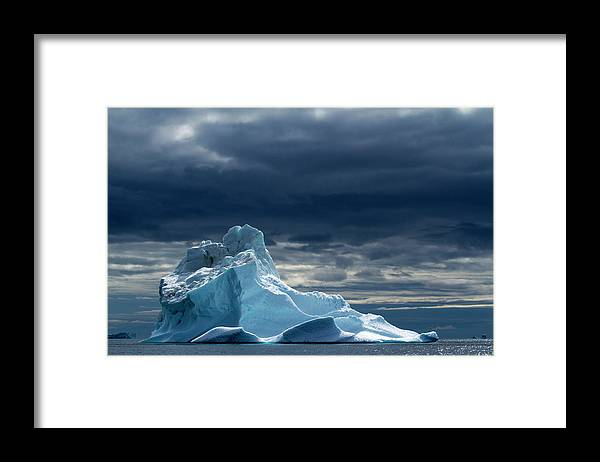 Tranquility Framed Print featuring the photograph Icebergs, Disko Bay, Greenland by Paul Souders