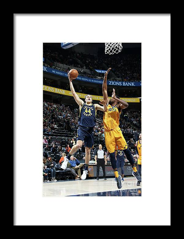 Nba Pro Basketball Framed Print featuring the photograph Indiana Pacers V Utah Jazz by Melissa Majchrzak