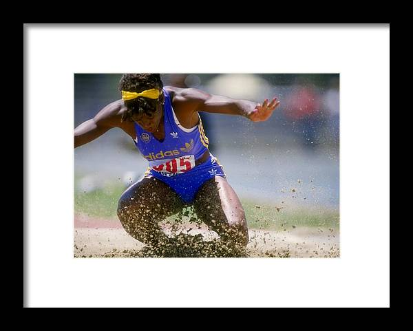 Long Framed Print featuring the photograph Jackie Joyner-kersee by Tony Duffy