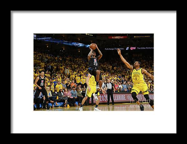 Playoffs Framed Print featuring the photograph La Clippers V Golden State Warriors - by Noah Graham