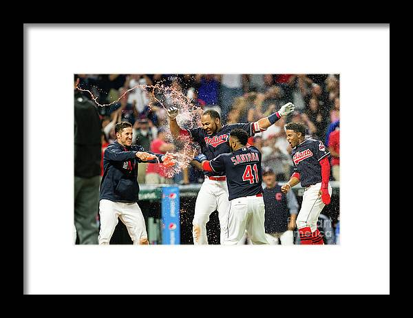 Three Quarter Length Framed Print featuring the photograph Los Angeles Angels Of Anaheim V by Jason Miller