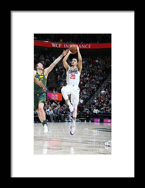 Nba Pro Basketball Framed Print featuring the photograph Los Angeles Clippers V Utah Jazz by Melissa Majchrzak