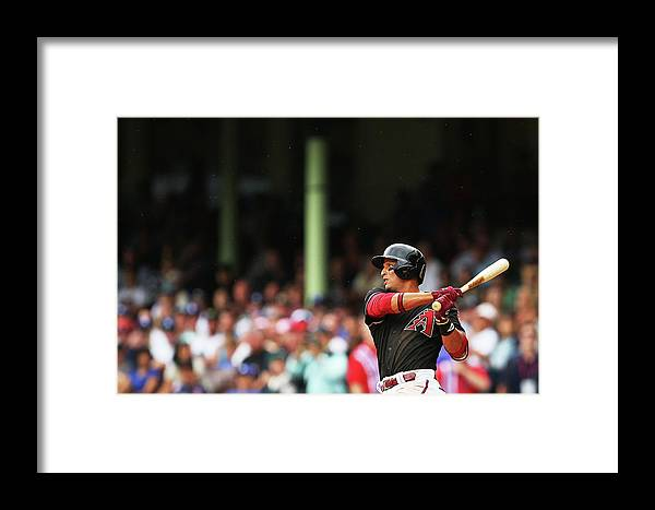 Australia Framed Print featuring the photograph Los Angeles Dodgers V Arizona 4 by Brendon Thorne