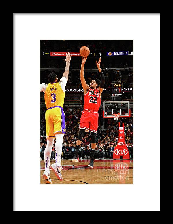 Chicago Bulls Framed Print featuring the photograph Los Angeles Lakers V Chicago Bulls by Jesse D. Garrabrant