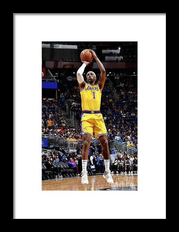 Nba Pro Basketball Framed Print featuring the photograph Los Angeles Lakers V Orlando Magic by Fernando Medina