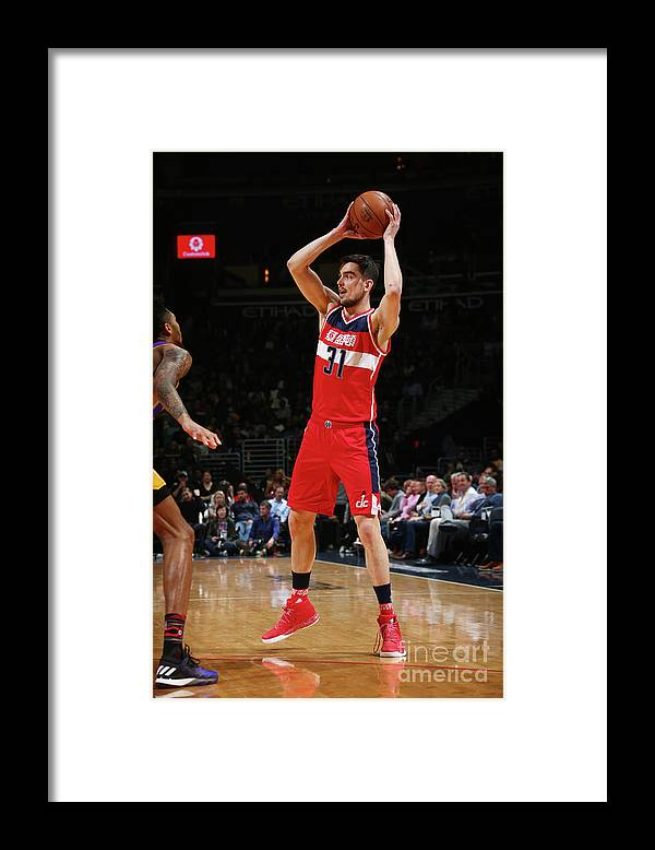 Nba Pro Basketball Framed Print featuring the photograph Los Angeles Lakers V Washington Wizards by Ned Dishman