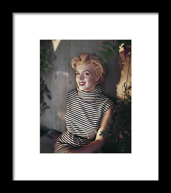 Marilyn Monroe Framed Print featuring the photograph Marilyn Monroe by Baron