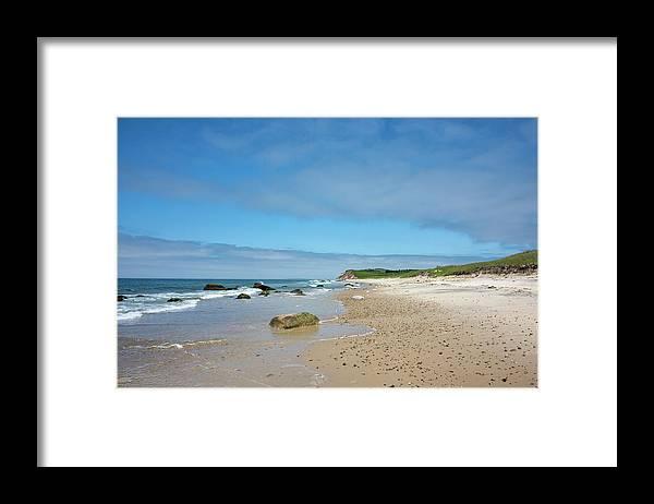 "Martha's Vineyard"" Framed Print featuring the photograph Martha's Vineyard - Moshup And Aquinnah Beaches by Brendan Reals"