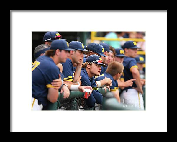 People Framed Print featuring the photograph Michigan V Ucla - Game One by Jayne Kamin-oncea
