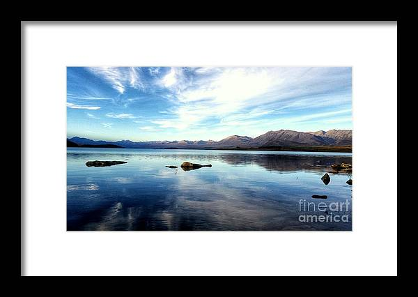 Skys Framed Print featuring the photograph morning Glory by Joyce Woodhouse
