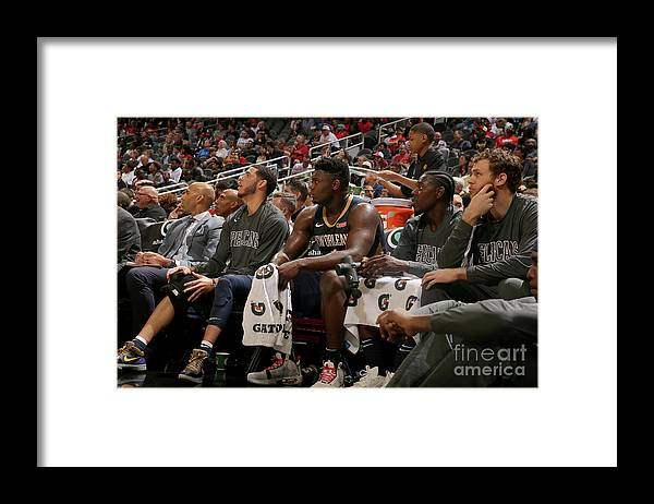 Atlanta Framed Print featuring the photograph New Orleans Pelicans V Atlanta Hawks by Layne Murdoch Jr.
