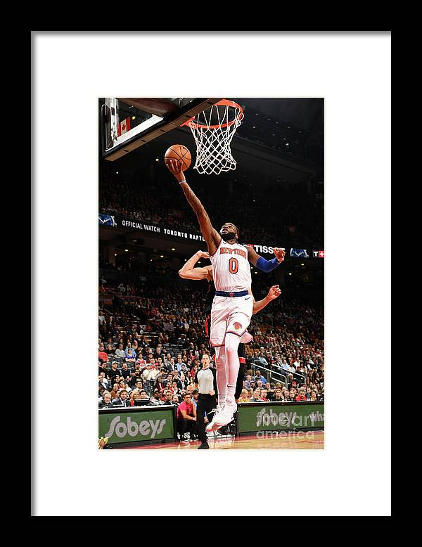 Nba Pro Basketball Framed Print featuring the photograph New York Knicks V Toronto Raptors by Ron Turenne