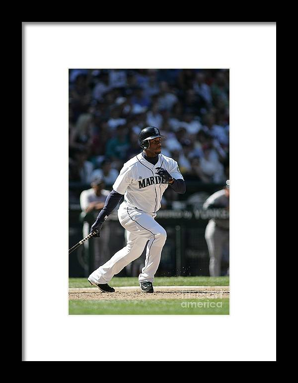 People Framed Print featuring the photograph New York Yankees V Seattle Mariners 4 by Rob Leiter