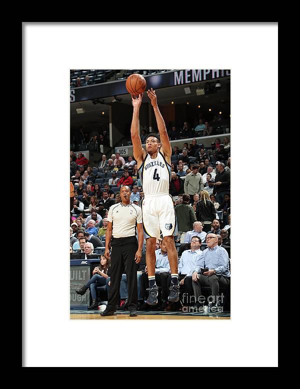 Nba Pro Basketball Framed Print featuring the photograph Orlando Magic V Memphis Grizzlies by Joe Murphy