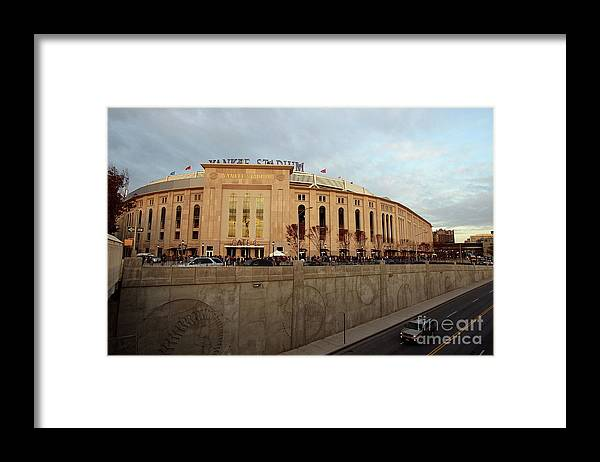Game Two Framed Print featuring the photograph Philadelphia Phillies V New York by Jed Jacobsohn
