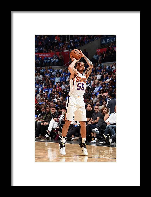 Nba Pro Basketball Framed Print featuring the photograph Phoenix Suns V Los Angeles Clippers by Andrew D. Bernstein