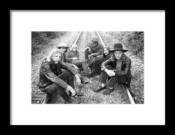 Music Framed Print featuring the photograph Photo Of Allman Brothers by Michael Ochs Archives