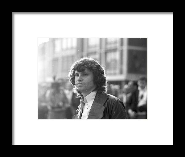 Horizontal Framed Print featuring the photograph Photo Of Jim Morrison by Michael Ochs Archives