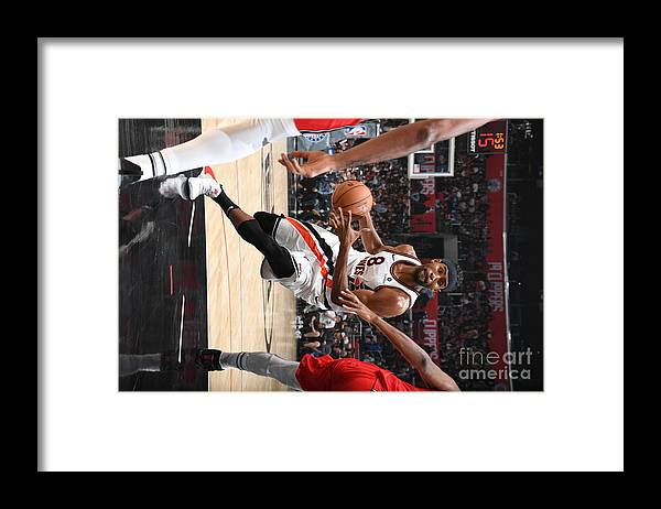 Moe Harkless Framed Print featuring the photograph Portland Trail Blazers V La Clippers by Andrew D. Bernstein
