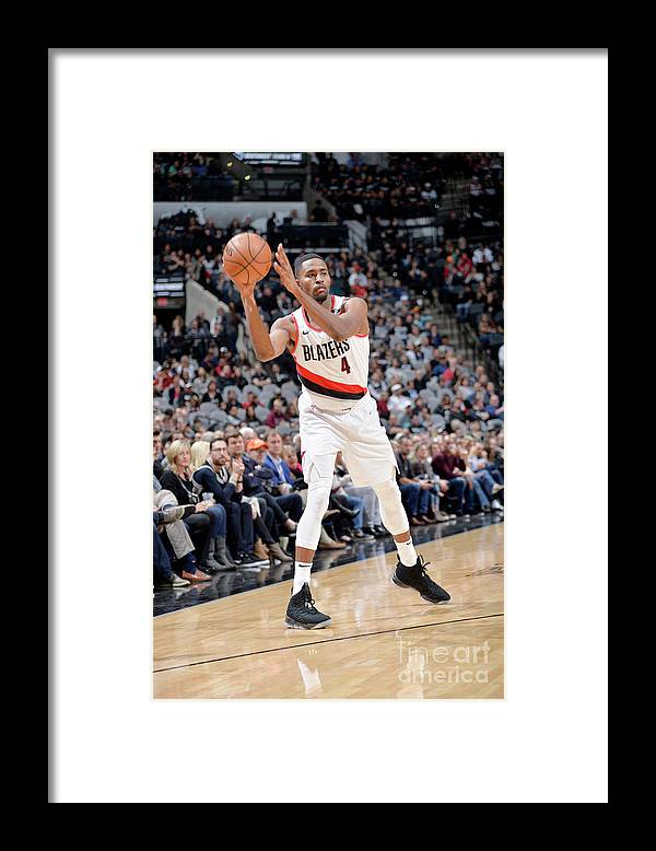 Moe Harkless Framed Print featuring the photograph Portland Trail Blazers V San Antonio by Mark Sobhani