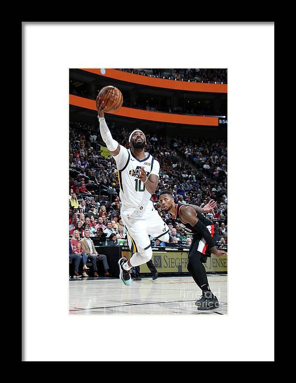 Nba Pro Basketball Framed Print featuring the photograph Portland Trail Blazers V Utah Jazz by Melissa Majchrzak