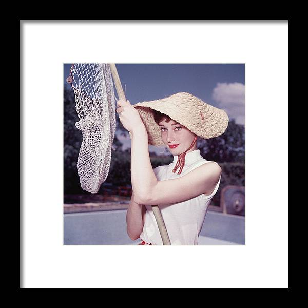 Belgium Framed Print featuring the photograph Portrait Of Audrey Hepburn by Hulton Archive