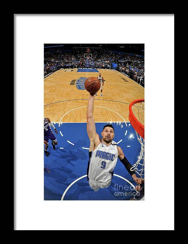 Nba Pro Basketball Framed Print featuring the photograph Sacramento Kings V Orlando Magic by Fernando Medina