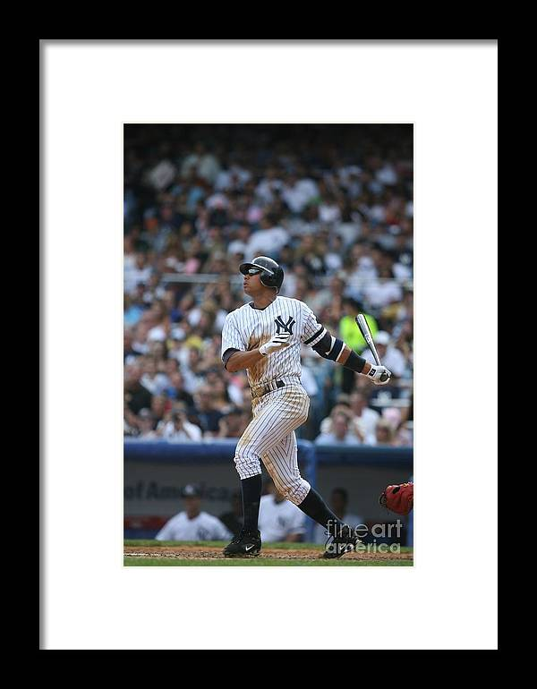 People Framed Print featuring the photograph Seattle Mariners V New York Yankees 4 by Rich Pilling