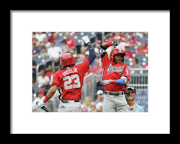 Three Quarter Length Framed Print featuring the photograph Siriusxm All-star Futures Game by Rob Carr