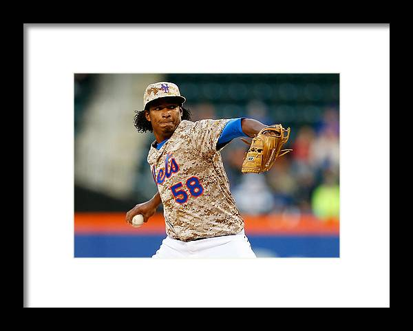 American League Baseball Framed Print featuring the photograph St Louis Cardinals V New York Mets by Mike Stobe