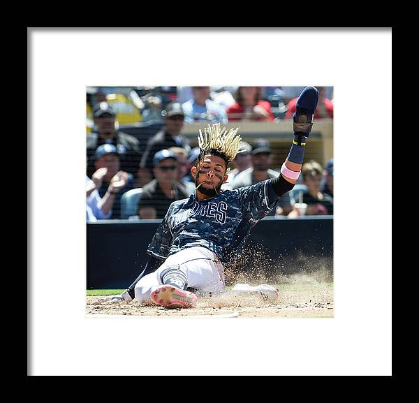 People Framed Print featuring the photograph St Louis Cardinals V San Diego Padres by Denis Poroy