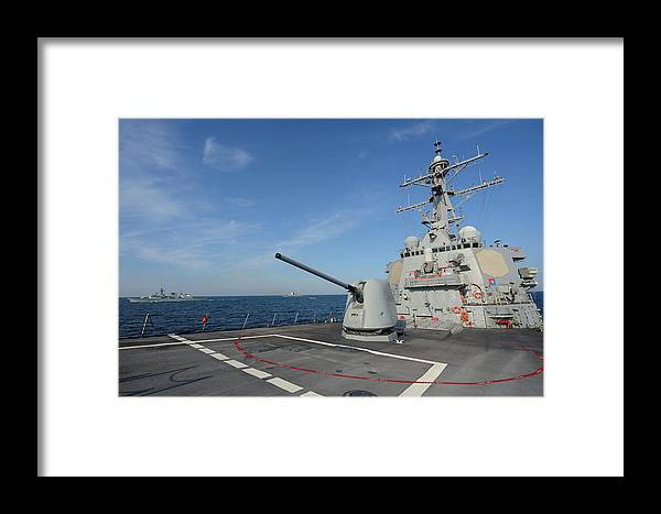No People Framed Print featuring the photograph The Arleigh Burke-class Guided-missile 4 by Stocktrek Images